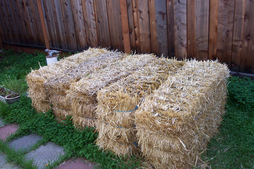 straw bales beginning